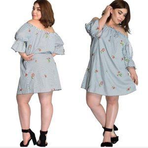 Dresses & Skirts - Plus Size Off The Shoulder Floral Dress